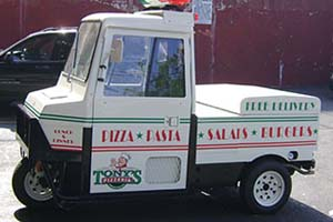 Half Wraps on commercial pickup trucks in New York City